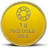 MMTC-PAMP 24k (999.9) 1 gm Goddess Lakshmi Yellow Gold Coin