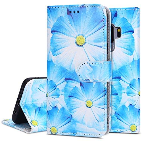 phezen Galaxy S9Plus Case, Luxus Soft Slim Flip Ständer Wallet Case Marmor Malerei Design für die Magnetic Bumper Wallet PU-Leder Karte Schutzhülle für Samsung Galaxy S9Plus orchidee