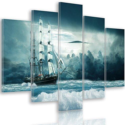 Feeby. Leinwandbild - 5 Teile - Bilder, Wand Bild, Wandbilder, Kunstdruck XXL, 5-Teilig, Typ A,...
