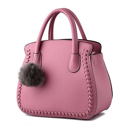 sotica-womens-ladies-pu-leather-handbag-top-handle-messenger-shoulder-bag-pink