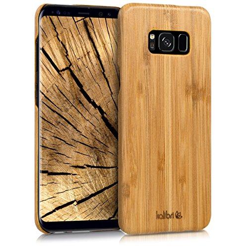 kalibri-Holz-Case-Hlle-fr-Samsung-Galaxy-S8-Plus-Handy-Cover-Schutzhlle-aus-Echt-Holz-und-Kunststoff-Mix-Bambusholz-in-Hellbraun