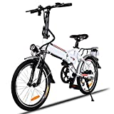 Creine 18.7 Zoll Elektrofahrrad E-Bike Klapprad Fatbike Pedelec Klappbar Mountainbike Elektro Fahrrad mit 7-Gang-Getriebe Kapazität Lithium-Akku LED-Anzeige 250W 25-35km/h