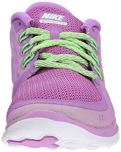 Nike Free 5.0, Running Fille, Mehrfarbig Fuchsia Glow/Black/Volt/White