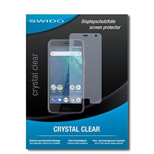 SWIDO Schutzfolie für HTC U11 Life [2 Stück] Kristall-Klar, Hoher Härtegrad, Schutz vor Öl, Staub & Kratzer/Glasfolie, Bildschirmschutz, Bildschirmschutzfolie, Panzerglas-Folie