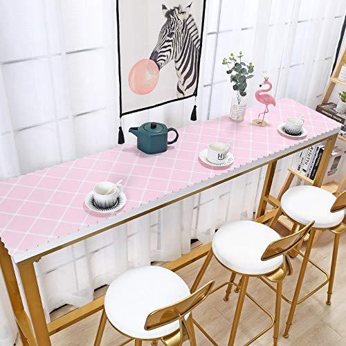 Jhtadva Nordic Wind TV-Schranktisch Flagge wasserdicht und ölfrei Einweg Verbrühschutz, rosa schräges Quadrat, 40 * 280 Diagonale Tv