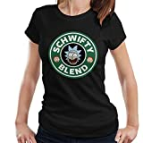 Rick And Morty Schwifty Blend Starbucks Logo Women's T-Shirt