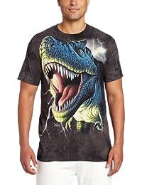 The Mountain Unisex Adulte Dinosaure Rex etincellant T Shirt
