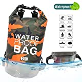 Idefair Wasserdichter Packsack, Schwimmender Trockenrucksack Strandtasche Leichter Trockensack für den Strand, Bootfahren, Angeln