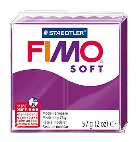 Staedtler - Fimo Soft - Pain Pte à Modeler 57 g Violet