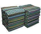 Betz 12er Pack Handtücher Grubentuch Arbeitshandtuch Küchentuch Größe: 50x90 cm 100% Baumwolle gewürfelte Optik