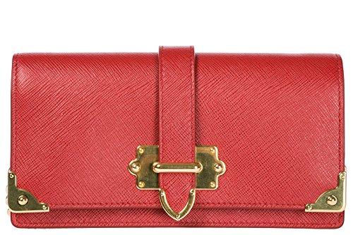 Prada borsa donna a tracolla pelle borsello porta iPhone rosso