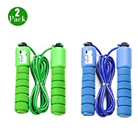 BluVast Kids Skipping Rope,Children Jump Rope , Speed Rope,Skipping Ropes For Children With Counter,For Fitness, Weight-loss and Speed Training