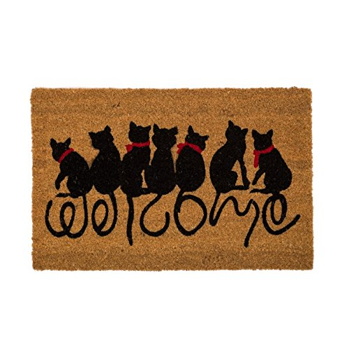Felpudo Original Welcome Cats Diseño Gatos Fibra