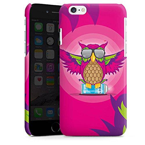 Apple iPhone 5s Housse Étui Protection Coque Hibou Hibou Rose vif Cas Premium brillant