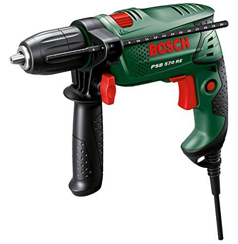 Bosch DIY Schlagbohrmaschine PSB 570 RE, 4 tlg. Universalbohrer-Set, Zusatzhandgriff, Tiefenanschlag, Koffer (570 W, max. Bohr-Ø: Beton 10 mm, Holz: 25 mm) - 2