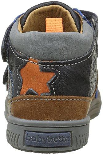 Babybotte Argile, Chaussures avec Fermeture Velcro Garçon Gris (160 Gris)