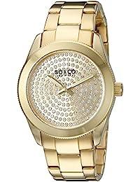 SO & CO New York 5067.2 - Reloj de cuarzo para mujeres, dorado