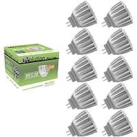 Evolution® Pro Line MR11 GU4 | 10 x 4Watts 250 lumen LED | Lampada AC / DC 12V 30° lampada bianca calda | Set di 10 [Classe energetica A+]