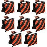 TARION 8 x Sac de Sable / Contrepoids lestage de trépieds Dimensions : env. 53cmx23cm Orange pour pieds de projecteur ,lampes ,girafes etc.