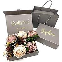 Personalised Grey Bridesmaid Gift Box with Bag | Custom Gift Box - Grey