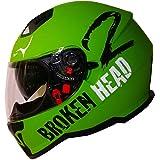 Broken Head Adrenalin Therapy VX2 | Motorrad-Helm Mit Sonnenblende | Military-Grün Matt | Größe L (58-59 cm)