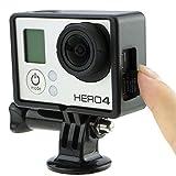 CamKix Halterung für GoPro Hero 4 Rahmen , 3+ und 3 / USB , HDMI und SD- Slots voll zugänglich - Licht und kompaktes Gehäuse für Ihre Kamera - Inklusive 1 Large Thumbscrew / 1 Stativgewinde / 1 Rubber Lens Cap / 1 UV- Filter Objektiv-Schutz -