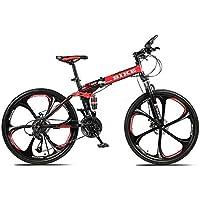 Novokart-Sports Pliables/vélo de Montagne 24/26 Pouces 6 Roue de Coupe, Rouge