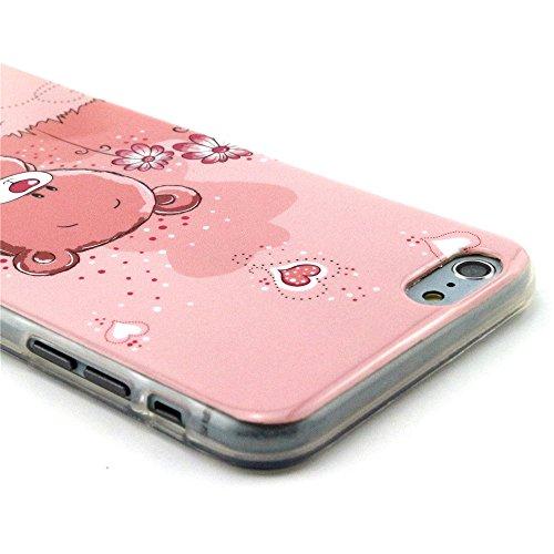 TIODIO® 4 en 1 Cuir Coque Rigide Case Etui Housse Smart Case Coquille avec pour Apple iphone 6S/iPhone 6, Stylus et Film protecteur inclus, A11 A22