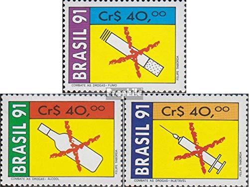 Prophila Collection Brasilien 2407-2409 (kompl.Ausg.) 1991 Kampf gegen Drogenmissbrauch (Briefmarken für Sammler) Gesundheit