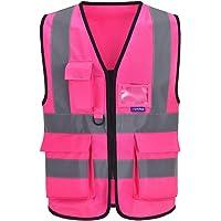 21 colour high viz Class 2 hi vis Zipper Front High Visibility vest Hi Vis Executive Vest Waistcoat with Phone & ID…