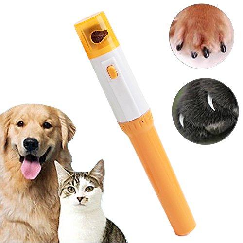 SparY Pet Nail Grinder, 1 Set Elektrischer Geräuscharmer Haustier-Nagelschneider für Hunde und Katzen