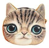 Emorias 1pc Porte-monnaie en forme de chat mignon Belle miroir voiture clé téléphone portable sac à main Charmant sac stylo unisexe