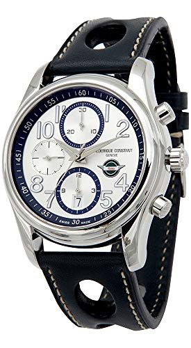 Frederique Constant Healey Chronograph Automatic Date Steel Mens Strap Watch Limited Edition FC-392HS6B6