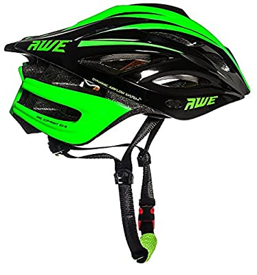 AWE® AWEBladeTM FREE 5 YEAR CRASH REPLACEMENT* In Mould Junior Cycling Helmet 52-56cm Black/Green from AWE®