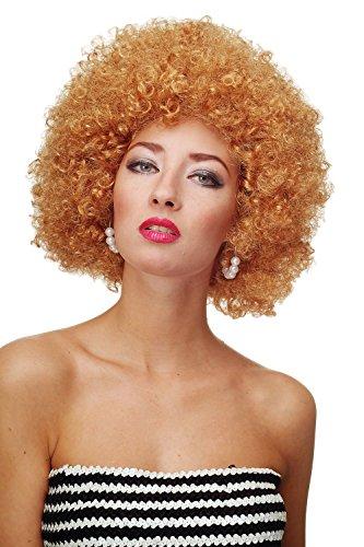 WIG ME UP ® - Parrucca Afro Anni 70 Parrucca Party Funk Disco Foxy Colore Biondo Scuro-Biondo oro PW0011-P27