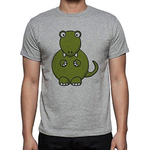 Dinosaur Rex Green Strange Sitting Herren T-Shirt Grau