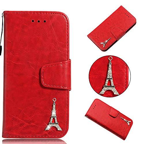 Preisvergleich Produktbild Galaxy A8 Plus 2018 Handyhülle [Premium Leder] [Standfunktion] [Kartenfach] [Magnetverschluss] PU Schlanke Leder Brieftasche für Samsung Galaxy A8+ 2018 (6, 0 Zoll) (2)