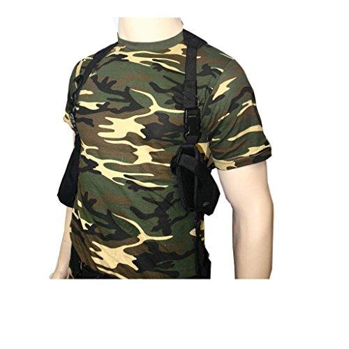 Tactical Schulterholster mit Magazintasche + Security SWAT Koppel Schwarz