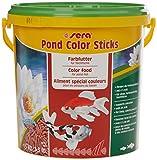sera 07159 pond color sticks 10 l - das Farbfutter für Teichfische mit 4 % Krill