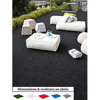 MadeInNature® Tapis spécial Salon de Jardin/Tapis extérieur intérieur/Tapis  Terrasses Balcons/Dimensions Coloris au Choix (Noir, 1x2m)