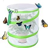 Yeelan Habitat de papillon pliable Bug Bug Catcher Insectes de maille Cage de plante Terrarium Pop-up pour enfants/enfant/tout-petit attraper des grillons/luciole/chenilles/coccinelle/terminer etc.