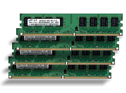 Samsung 8Gb 4x 2Gb Ram Speicher 800Mhz Pc2-6400 M378T5663QZ3-CF7 double sided für DDR2 800Mhz Computersysteme, 100% kompatibel zu 667Mhz -