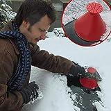 #1: Balock Schuhe Cone-Shaped Auto Windschutzscheibe Schneeräumung Scraper Schaufel Fensterreinigungswerkzeug,Windschild Eiskratzer Round Magic Cone-Shaped Eiskratzer (Rot)
