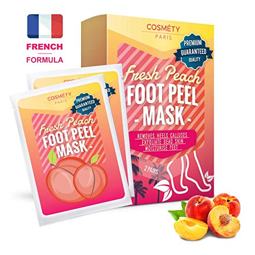 Exfoliating Foot Peeling Mask for Soft Baby Feet - 2 Pairs - Removes Calluses, Dead and Dry Skin - Repairs Rough Heels in 7 Days; For Men and Women; Natural Gel Socks Booties; Antioxidant