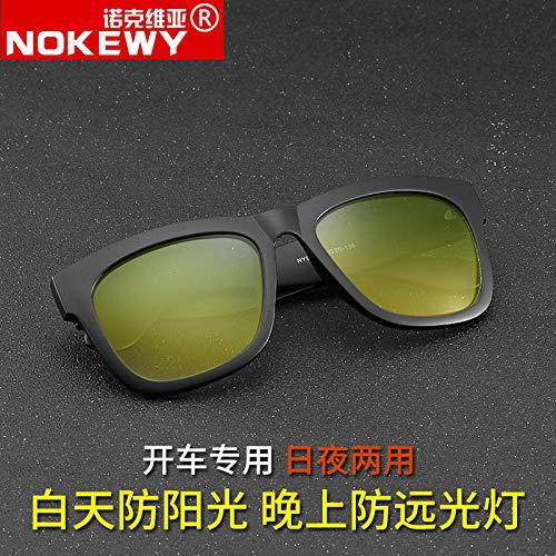 Neue koreanische Version der Retro-Farbsonnenbrille für Männer und Frauen polarisierte Flut superschwarze Brillen mit großem Gestell mattschwarze Fassung superschwarze Fassung mit doppeltem Verwendun -