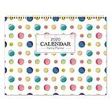 2020 Wandkalender/Familienplaner - Monat für Ansicht 2020 Family Organizer mit Stiftschlaufe, Innentasche, Zwillingsbindung, 6 Blöcke pro Tag, 39X58 cm (OFFEN)
