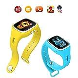 TURNMEON® Touch Screen Kinder Smart Watch für Kinder Smartwatch Telefon mit GPS Tracker Anti verloren SOS Handgelenk Armband für App Control (Grün) - 5