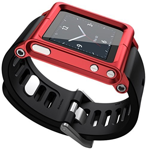 aussel-cool-alumium-watch-band-wrist-strip-for-ipod-nano-6g-cover-case-red