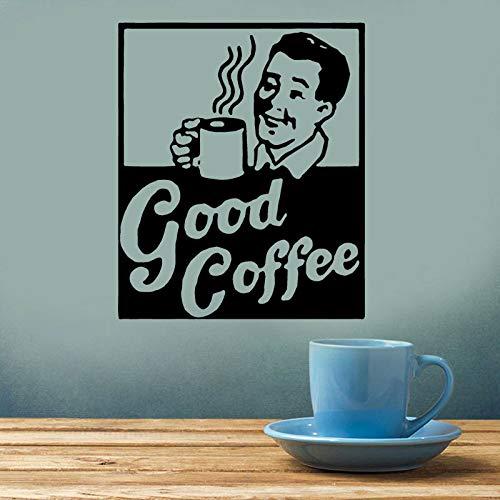 DLYD 57x69cm Vintage Kaffee Logo Applikation, Küche, Restaurant Dekoration, Kaffeetasse, Vintage, Joo Tasse, Vinyl Aufkleber Selbstklebende Tapete