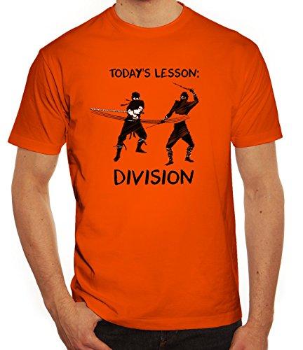 Sport Herren T-Shirt mit Ninja Division Motiv von ShirtStreet Orange